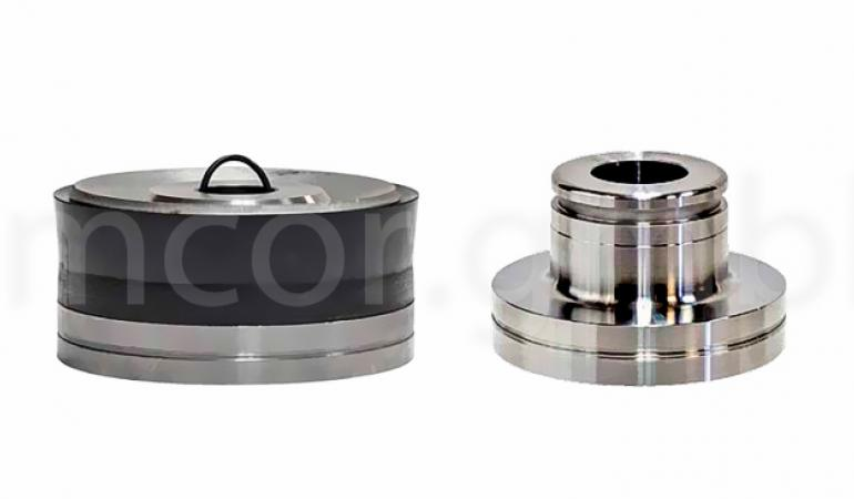 Pistons with replaceable isolation joint