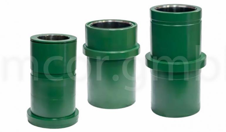 Cylinder liners with chrome-plated sleeve