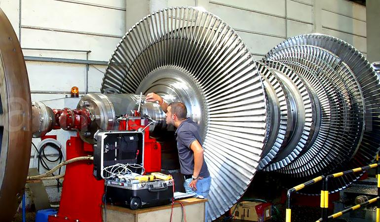 Inspection of the gas turbine